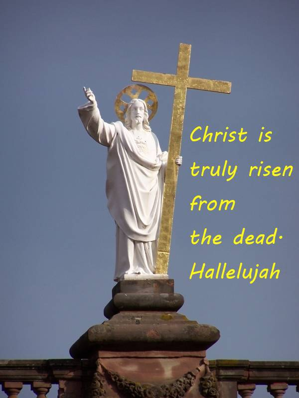 Christ is truly risen from the dead. Hallelujah